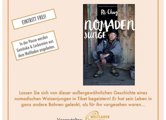 Lesung aus dem Buch Nomadenjunge am 28. Februar in Hofheim